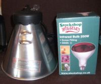 Heat lamp holder & bulb